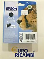 Cartuccia EPSON T0711 NERO ORIGINALE C13T07114020 Fattura & Scontrino