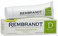 Rembrandt Deeply White Peroxide Fluoride Toothpaste - Fresh Mint / Free Shipping