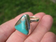 Natural Arizona Stone Turquoise Ring Size 6.5 US Adjustable A28844