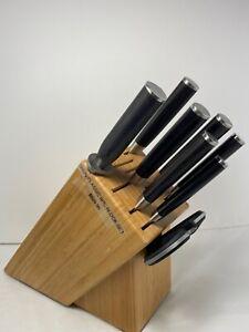 Shun Classic 9 Piece Chefs Choice Wood Block Knife Set (Missing 1 Knife) NEW