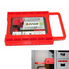 """SSD HDD 2.5'' TO 3.5"""" Mounting Adapter Bracket Bay Holder Fit PC Case Caddy Tray"""