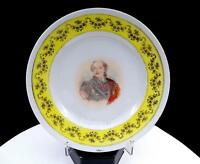 "VICTORIA AUSTRIA CARLSBAD BOULAWGER SIGNED LOUIS XV YELLOW & GILT 8 3/8"" PLATE"
