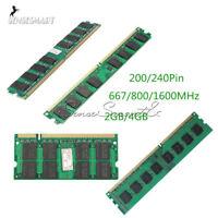 2GB 4GB Memory PC2-5300/U 667/800/1600MHZ 200/240Pin RAM DDR2 PC Desktop Memory
