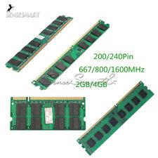 Memoria de 2GB 4GB PC2-5300/U 667/800/1600MHZ 200/240Pin Ram DDR2 Memoria de PC de escritorio