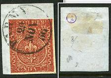 PARMA ITALIANO Stati 1853 25c BELLE USATO TIMBRO pezzo CAT euro 900