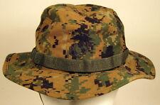 USMC Marine Corps MARPAT Woodland Boonie Hat Cap Cover W/ EGA