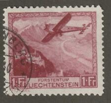 Liechtenstein 1930 C6 Air Post Stamp- Used