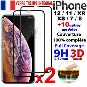 VERRE TREMPE IPHONE VITRE PROTECTION ECRAN INTEGRAL 11 12 PRO MAX X XR SE 20 7 8