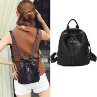 Women's Small Mini Faux Leather Backpack Rucksack Daypack Purse bag Cute