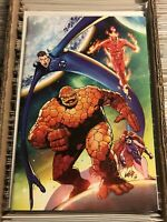 FANTASTIC FOUR #1 ROB LIEFELD VIRGIN VARIANT COVER MEDUSA INHUMANS RARE HTF 2018