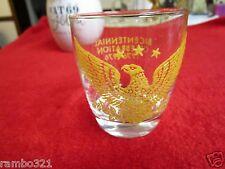 Eagle Bicentennial Celebration Cup Glass Mug Beautiful 1776 - 1976 antique USA