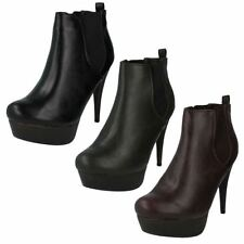 Stiletto Pull On Textile Boots for Women