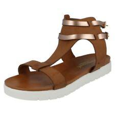 Sandalias y chanclas de mujer de color principal marrón sintético Talla 38.5