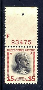 US Stamps - #834 - MNH -  $5  Calvin Coolidge Issue - CV  $75