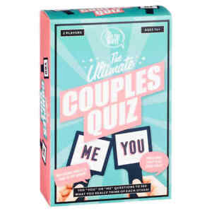 New Ultimate Couples Quiz 2 players Ages 14 and over Have Some Fab Fun at Home.