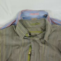 Tommy Bahama Mens Long Sleeve Button Up Casual Shirt Sz L Lot of 2 Shirts