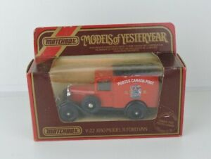 1984 matchbox models of yesteryear y-22 1930 model 'A' ford van canada post 1:40
