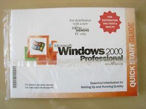 Vintage Software - Microsoft Windows 2000 Professional for Fujitsu Siemens PC