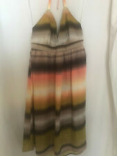 H&M halter dress size16 browns and orange coloured
