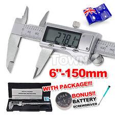 "Vernier Caliper Digital LCD Gauge Electronic Stainless Steel Micrometer 150mm 6"""