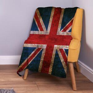 Grunge 2 Union Jack Design Soft Fleece Throw Blanket