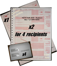 2020 Irs Tax Forms Kit: 1099-Nec Carbonless 4 recipients + 4 envelopes+(1)1096