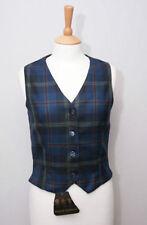 Button Hip Length Wool Regular Size Waistcoats for Women