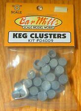 Bar Mills #4009 (O Scale)Clusters of Kegs -- Unpainted Resin Castings - 2 Group