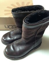 UGG Australia Hard Soled Child Boot Size 1~Brown K Riverton~Box Included