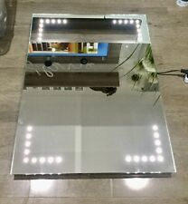 Iflo 800x600x45mm LED Light Rectangular Bathroom Mirror With Side Sensor