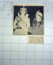 1951 Miss Shirley And Pomeroy, Mousehole Carnival Queen, Award By Miss Thea Rowe