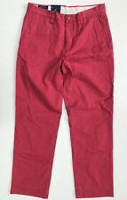 Polo Ralph Lauren Classic Fit 'BEDFORD CHINO' Khaki Twill Pants W30 L30 NEW Men
