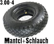 Mantel  Decke Sackkarrenreifen + Schlauch 3.00-4 260x85 Reifen 2PR Bollerwagen v