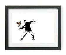 Flowers Banksy Art Poster Picture Print Artwork A4 Gift