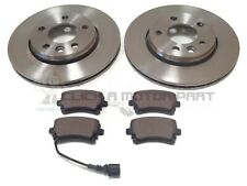 VW TRANSPORTER T5 MINTEX REAR 2 BRAKE DISCS AND PADS SET (CHECK DISC SIZE 294MM)