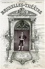 A. Delabarre, Bruxelles-Théâtre, Louis Morlet (1849-1913), chanteur Vintage albu