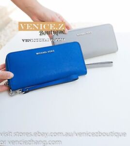 BNWT $235 MICHAEL KORS Tech Continental Leather Wallet Clutch Purse Wristlet
