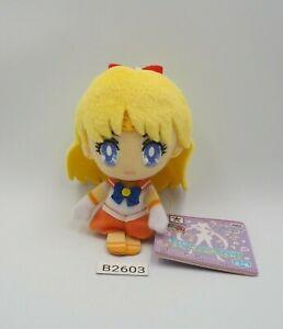 "Sailor Moon B2603 VENUS Banpresto 2016 Keychain Mascot 4"" Plush Toy Doll Japan"