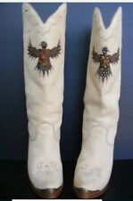 Boot Zodiac Eagle Feather 1981 US Woman Size 6 M Tan Suede Leather