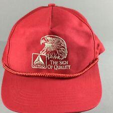 Vintage CITGO Eagle Head Red Trucker Baseball Oil Gas Hat Snapback One Size