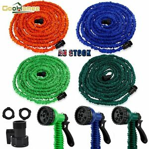 Deluxe Expandable Flexible Garden Water Hose With Spray Nozzle 7.5/15/22.5/30M