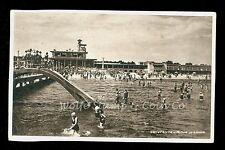 Printed Photo Postcard  Constanta Romania Mamaia Beach water Slide 1940's  B1564