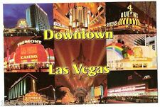 Downtown Las Vegas 8 view w/ gone Fremont St. Experience Hotel Casino postcard L