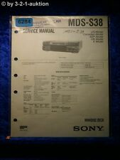 Sony Service Manual MDS S38 Mini Disc Deck (#6284)