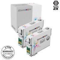 2pk T069 T069120 Black Reman Ink Cartridge for Epson Stylus cx7400 nx515 nx110