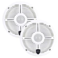 """Wet Sounds REVO 6 XWW 6-1/2"""" 2-Way Marine Audio Coaxial Speakers w/ LED - White"""
