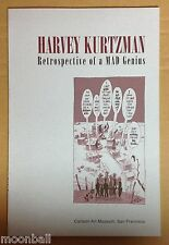 RARE! HARVEY KURTZMAN Retrospective of a MAD Genius 1995 CARTOON ART MUSEUM Show