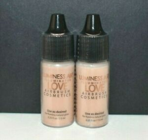 2X New Luminess Airbrush Love Illuminator 0.25 oz Each Total 0.50 oz