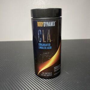 BodyDynamix CLA Conjugated Linoleic Acid 120 Soft-Gels 30 Day Supply 01/2023+