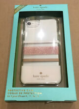 Kate Spade Phone Case For iPhone 8,7,6s,6  Rose Gold Glitter Blush/Gold